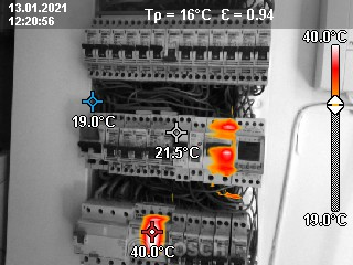 Points de chauffe sur un tableau électrique